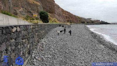 Limpeza de praia no Caniçal