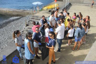 Machico ambiente: limpeza da praia da ribeira do natal