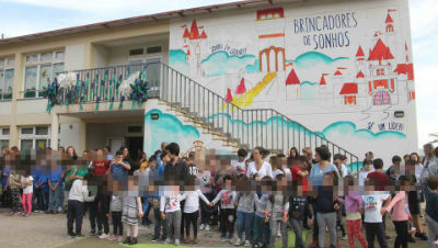 Hastear de Bandeira Verde na EB 1ºCiclo/PE do Caniçal